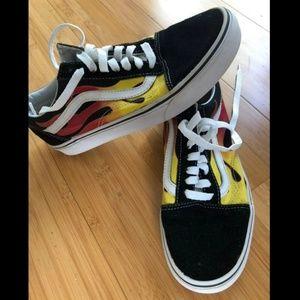 Vans old skool flame shoes 8 W